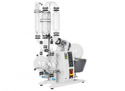 Buchi Rotavapor R-220 EX T4 400V Large-Scale Rotary Evaporator D-Descending Glass Assembly 10L Drying Flask 2 Dual Receiving Flasks 2 x 10L