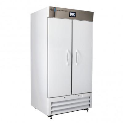 ABS Premier Pharmacy Standard Glass and Solid Door Laboratory Refrigerator. 36 Cu Ft. 2 Swing Solid Door.
