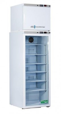 American BioTech Supply Premier Combination Refrigerator and Freezer (12 Cu Ft) (Right Hinge) (Manual Defrost) (Glass Door)