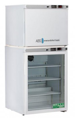 American BioTech Supply Premier Combination Refrigerator and Freezer (9 Cu Ft) (Right Hinge) (Manual Defrost) (Glass Door)