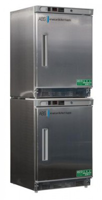 American BioTech Supply Premier Stainless Combination Refrigerator and Freezer (Left Hinge)