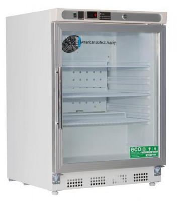 American BioTech Supply Premier Undercounter Refrigerator (4.6 cu ft) (Glass Door) (Right Hinge)