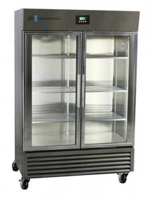 American BioTech Supply Premier Stainless Steel Validation Refrigerator (72 cu ft) (Glass Door)