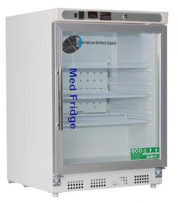 American BioTech Supply Premier Pharmacy Undercounter Refrigerators (4.6 cu ft) (Left Hinge) (Glass Door)