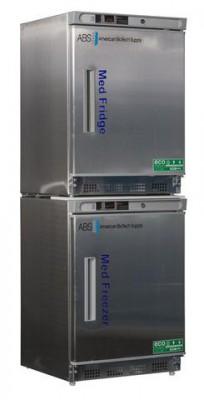 American BioTech Supply Premier Pharmacy SS Combo Refrigerator and Freezer (Left Hinge)
