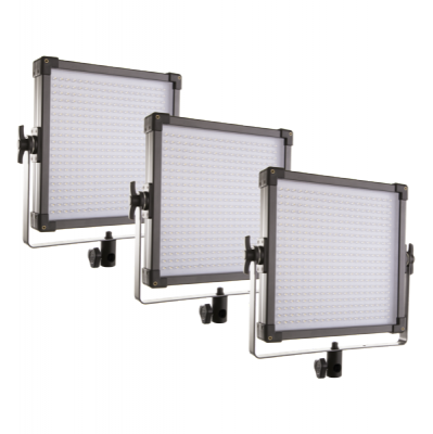 LED Light Panel 1×1 3-Light Kit