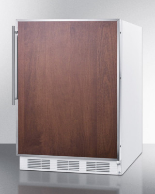Summit Appliance Commercial Ff7 Under-Counter 5.5 Cu. Ft. Black All-Refrigerator W/ Stainless Steel Frame And 16