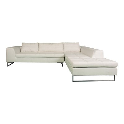 Manhattan Sectional - White, Right Arm