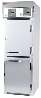 Thermo Scientific General Purpose Combination Lab Refrigerator/Freezer, Stainless Steel, Solid Door