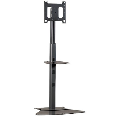 Large Flat Panel Floor AV Stand without Monitor (available with wheels)