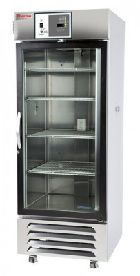 Thermo Scientific General Purpose Chromatography Refrigerator, 27 cu ft, Stainless Steel, Glass Door, Chart Recorder