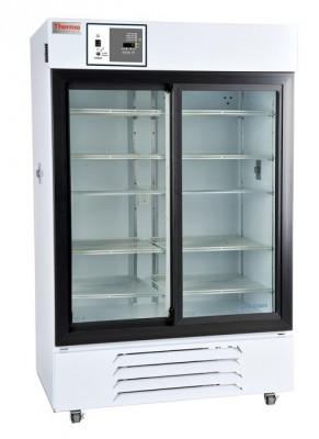 Thermo Scientific General Purpose Refrigerator, 45 cu ft, White, Glass Door, Chart Recorder