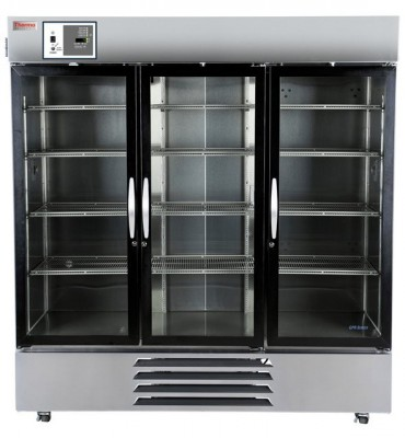 Thermo Scientific General-Purpose Series Lab Refrigerator, 72 cu ft, Stainless Steel Glass Door, Chart Recorder