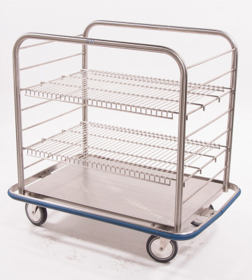 Blickman Open case cart, (2) wire shelves, 6