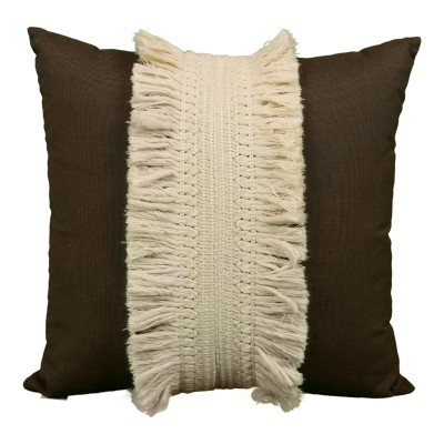 Chocolate Fringe Pillow