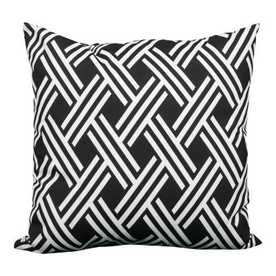 Black & White Lattice Oversized Pillow