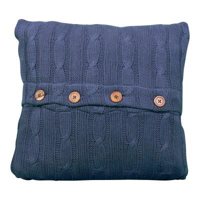 Navy Sweater Pillow