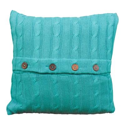 Teal Sweater Pillow