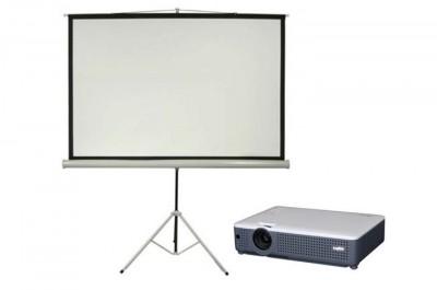4K HD DLP Data Projector Kit w/ 6' Screen