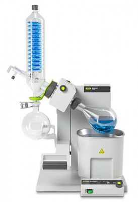 Buchi Rotavapor R-300 Rotary Evaporator with 1L Water Bath Electronic Lift Vertical Reflux
