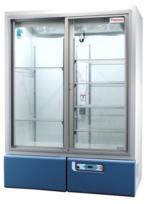 Thermo Scientific Revco High-Performance Laboratory Refrigerator, 45.8 cu ft, Double Glass Sliding Door