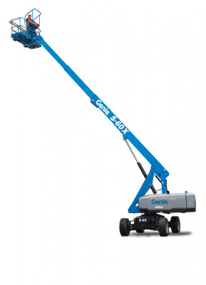 Genie S60 Self Propelled Boom Lift, 2WD or 4WD, Dual Fuel or Diesel Power