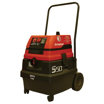 Ermator S50 Wet/Dry HEPA Vacuum with Power Tool Outlet