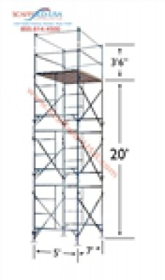 Scaffold Usa 20ft Non Rolling Scaffold Tower Rental