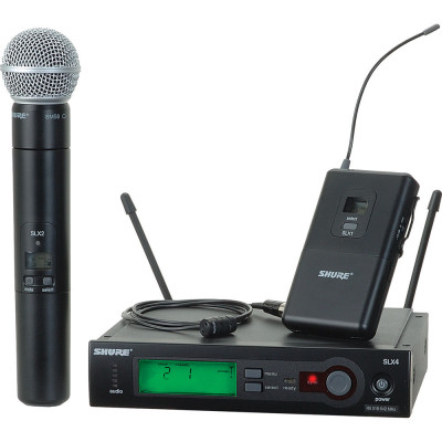 Shure SLX Wireless ( Handheld & Lavalier ) Microphone Kit
