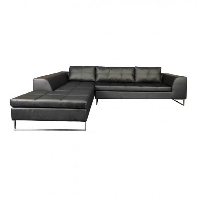 Manhattan Sectional - Black, Right Arm