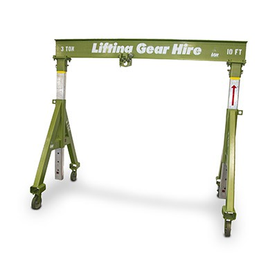 Steel Gantry 3 Tons with 10' Beam