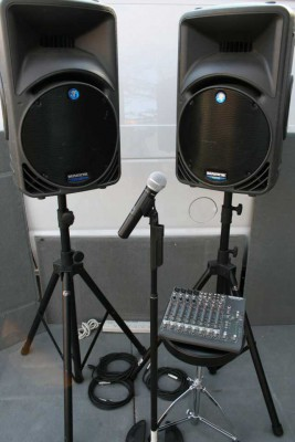 Custom Two Speaker Sound System for 50-100 people
