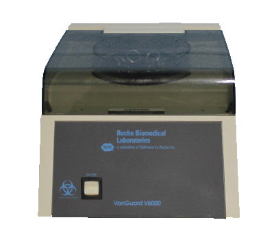 Roche Centrifuge, Bench top Model,  Vanguard 6000