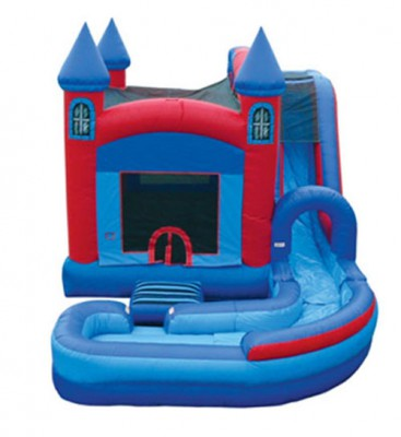 Castle Jump and Water Slide Combo